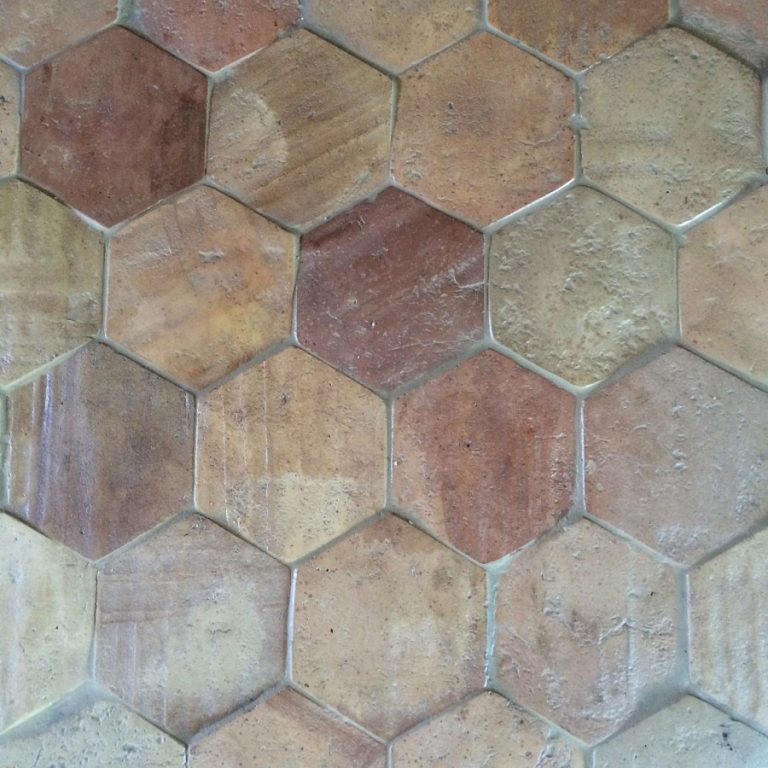 hexagon pastell reclaimed terracotta